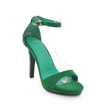 Women's High Heel One-word Buckle Stiletto Heel Sandals