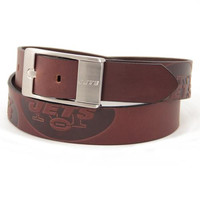New York Jets NFL Men's Embossed Leather Belt (Size 36)