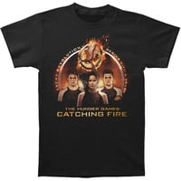 Hunger Games Men's  Trio With Spark Quote T-shirt Black Rockabilia