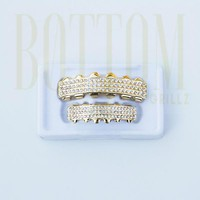 14k Gold Iced Out Grillz