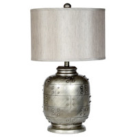 Privilege Hammered Silver Table Lamp