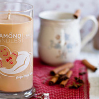 Gingerbread Latte Candle - All Natural Soy Candles By Diamond Candles