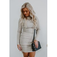 Falling For Me Dress - Light Beige
