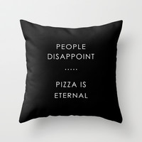 PIZZA Throw Pillow by n a t a l i e