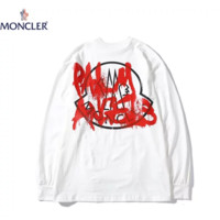 Moncler New fashion letter print couple long sleeve top sweater White