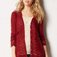 Ruched Pointelle Cardigan