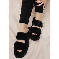 Fuzzy Double Band Slippers
