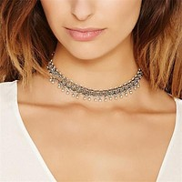 Vintage Link Chain Choker Necklace