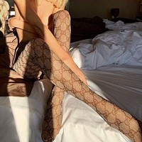 GG hot sale sexy lady G letter stockings Socks White
