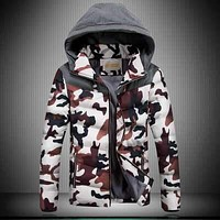 Famou Brand Mens Parkas 4XL Fashion 2016 Winter Jacket Men Camouflage With Hat Coat And Jacket Men H6372