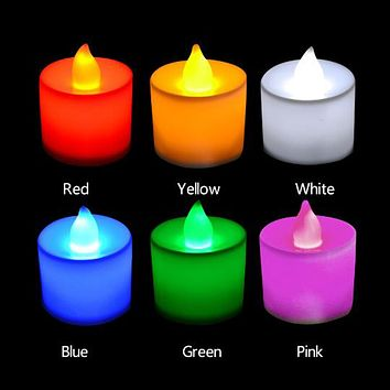 LED Flameless Candle Battery Operated Party Wedding Flickering Tealight Decor