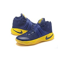 Nike Kyrie Irving 2 Navy/Yellow Basketball Shoe