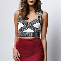 Wyldr Bandage Cropped Top - Womens Shirts - White