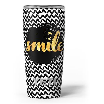 Smile Sketch on Foil - Skin Decal Vinyl Wrap Kit compatible with the Yeti Rambler Cooler Tumbler Cups