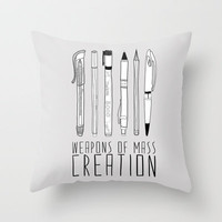 weapons of mass creation Throw Pillow by Bianca Green | Society6