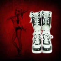 Harley Quinn Women Slim Boots Shoes 2017 New Women Boots Sexy snow boots women's winter thigh high boots shoes woman White HG35