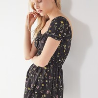 UO Sophia Floral Smocked Romper | Urban Outfitters
