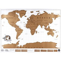 New Travel Scratch Off Map Personalized World Map Poster Traveler Vacation Log NVIE