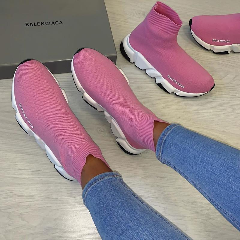Image of Balenciaga Woman  Boots Fashion Breathable Sneakers Running Shoes