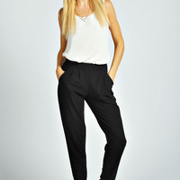 Tate Crepe Pleat Front Trouser