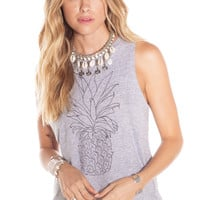 AMUSE - Pineapple Muscle Tank / Heather Gray