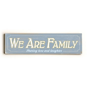 Personalized We Are Family Wood Sign