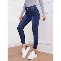 Highest-Rise High Stretch Skinny Jeans