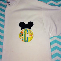 Monogrammed Mickey Mouse Shirt,Adult mickey shirt,adult monogram mickey shirt,adult monogram minnie mouse shirt,adult disney shirt,monogram