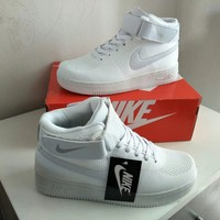 """Nike Air Force 1"" Unisex Sport Casual Flyknit High Help Sneakers Couple Plate Shoes"