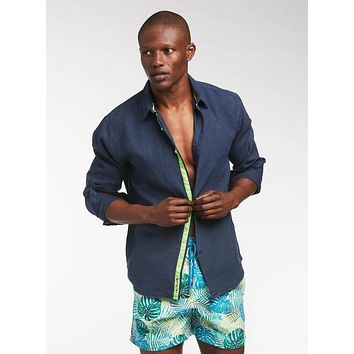 Navy Blue Peter Linen Shirt (Many Colors Available)