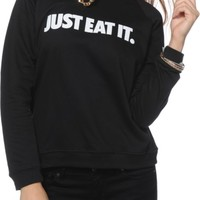 Married To The Mob Just Eat It Crew Neck Sweatshirt