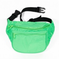 Blank Green Neon Party Fanny Pack | Customized Rave Acessories
