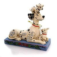 Jim Shore PUPPY LOVE Polyresin Pongo Penny Rolly 4054278