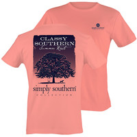 Simply Southern Classy Summer Roots Tree Pattern T-Shirt