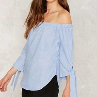 Bind Your Own Business Off-the-Shoulder Top