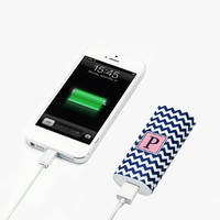 Fashion Chevron Monogram Portable Power Bank Battery Charger for iPhone and Samsung