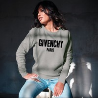 GIVENCHY PARIS Unisex Crew Neck Sweatshirt