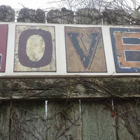 "Large 3-ft Rustic LOVE SIGN Salvaged Distressed Wood Metal Letters 11-1/4""x36"" Antiqued Home Wall WEDDING Decor Romantic Shabby Chic Gift"