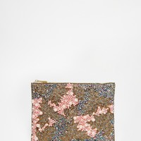 ASOS Co-ord Pearl Embellished Clutch Bag at asos.com