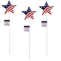 Set of 3 Patriotic Star Garden Stakes / 4th of July / Americana