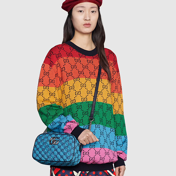 Image of GG Multicolor Knitted Double G Sweater