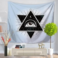 Polyester Tapestry Indian Geometic Eyes 150x130cm 150x200cm Multifunctional Tapestry Wall Hanging Home Decoration Wall Blankets