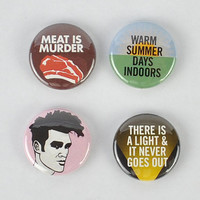 The Smiths Buttons! Morrissey, Meat Is Murder, There is a Light That Never Goes Out,