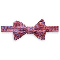 Men's School of Fish Bow Tie in Coral Beach by Southern Tide