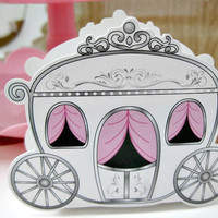 Fairytale/Princess Carriage Treat Boxes - Set of 12