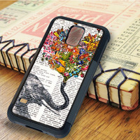 Dictionary Elephant Flower Elephant Dictionary Flower   For Samsung Galaxy S5 Cases   Free Shipping   AH0536