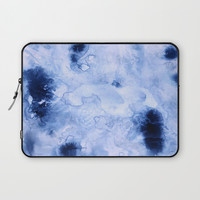 Marbled Water Blue Laptop Sleeve by Nina May Designs
