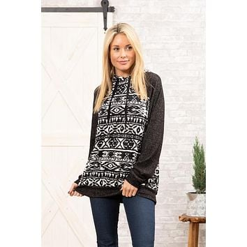 The Aztec Knit Hoodie