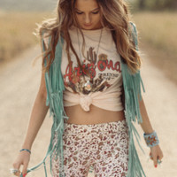 Cowgirl Dreams Tassel Vest - Turquoise   Spell & the Gypsy Collective