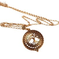 High Quality Vintage Magnifying Glass Pendant Necklace   Life Tree Pocket Watch Time collar collier